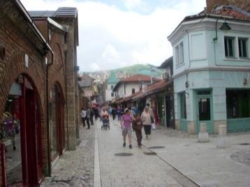 Rainy Sarajevo with American Tourists, and a Slight Change.